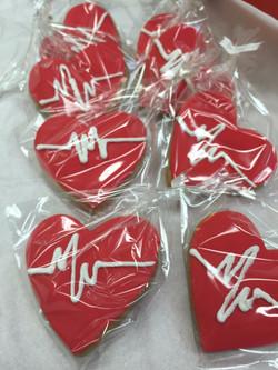 Nurse Heart Cookies