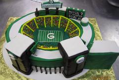 Green Bay Packers stadium grooms cake