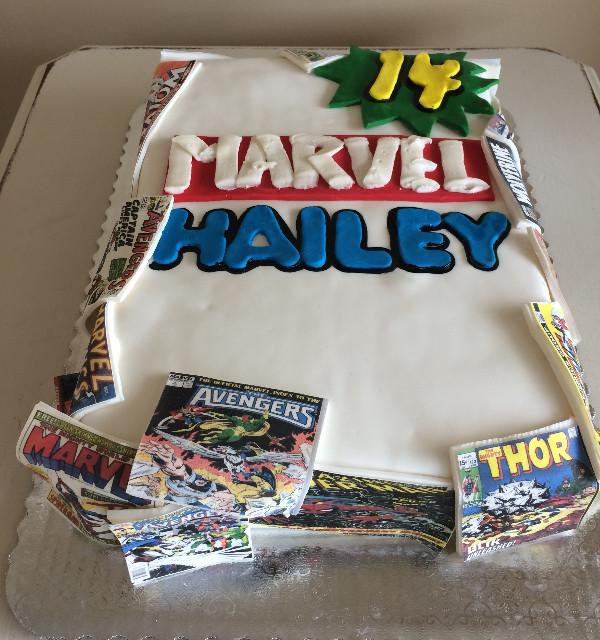 Marvel Comic Book Birthday Cake