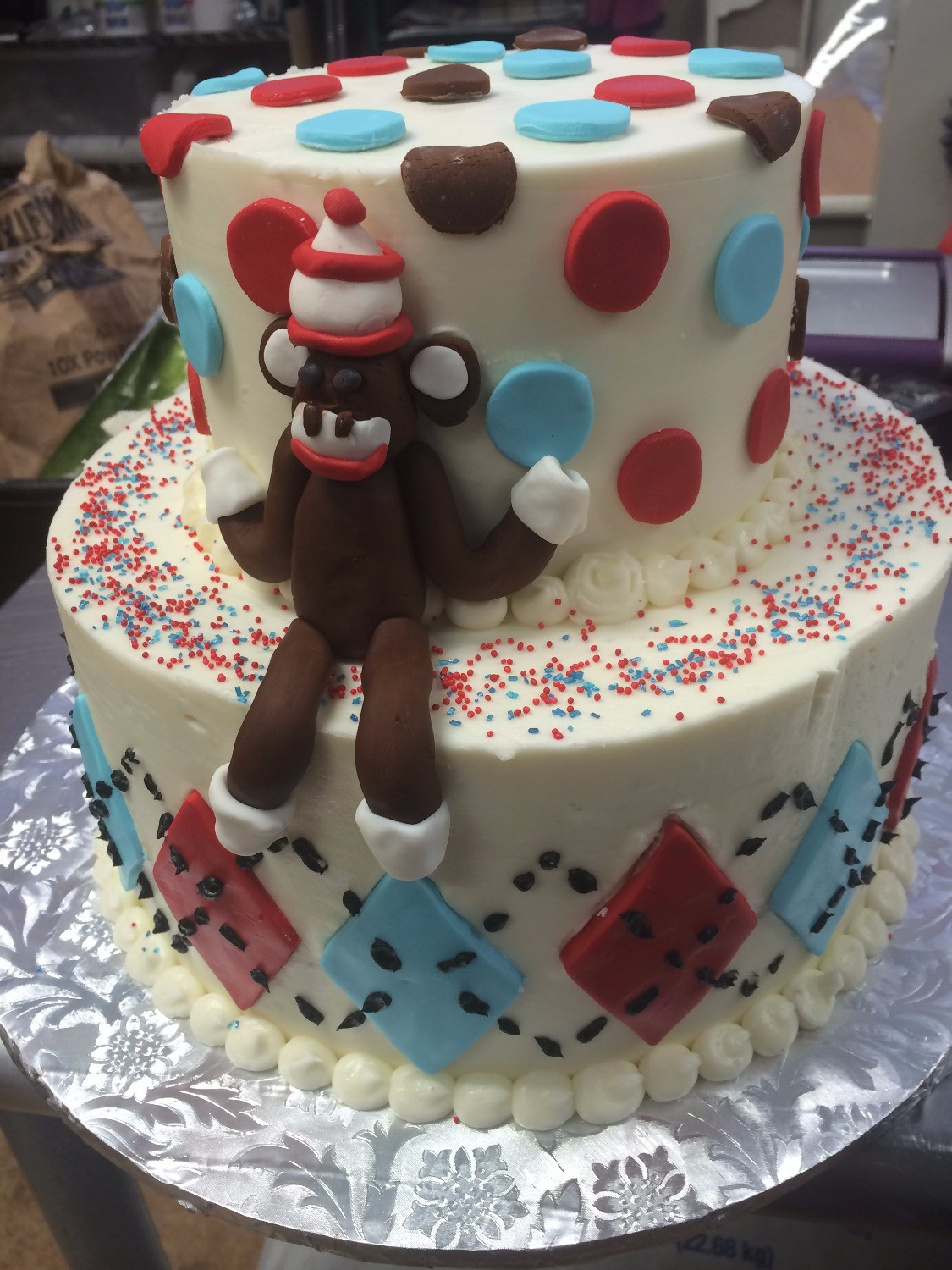 Pleasant Sock Monkey Birthday Cake Funny Birthday Cards Online Barepcheapnameinfo