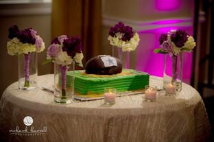 Dallas Cowboys football grooms cake