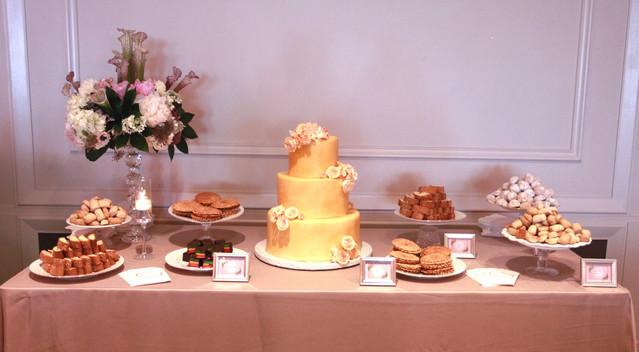 Italian wedding cookie dessert table