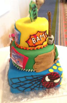 Marvel superhero grooms cake