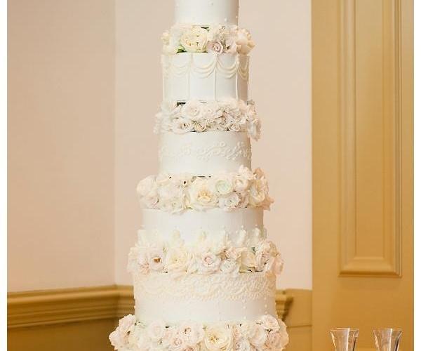 Amazing Tall Tier Wedding Cake