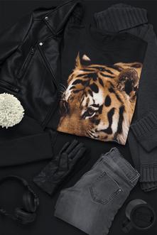 Impression numérique t-shirt noir personnalisé