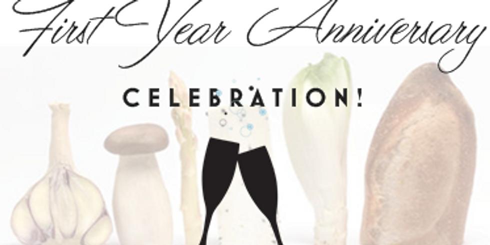 First Year Anniversary Celebration!