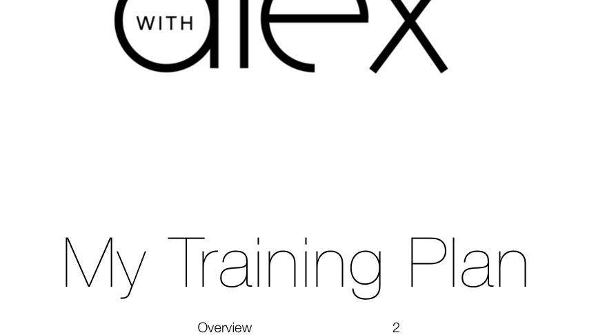 Comprehensive Training Plan
