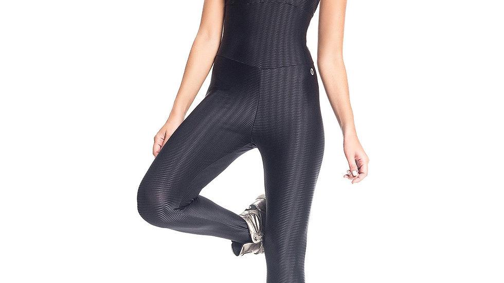 Queen Bee Black Workout Jumpsuit