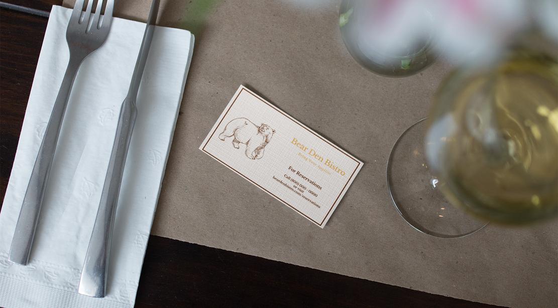 Bear Den Business Card