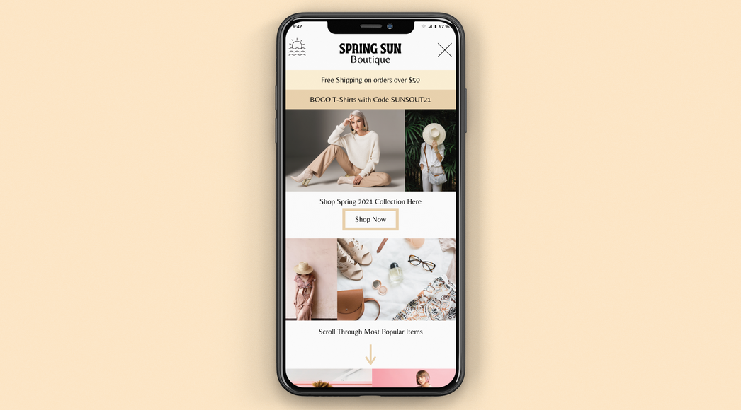 Boutique Iphone Mockup