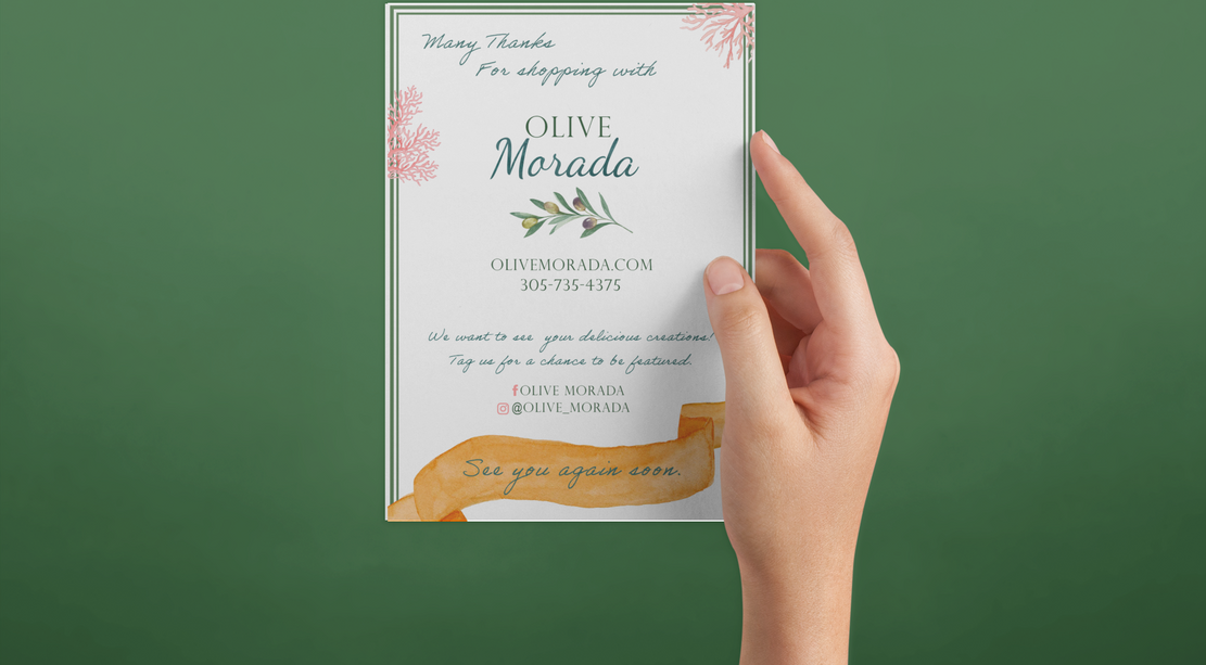 Olive Morada Thank You Card