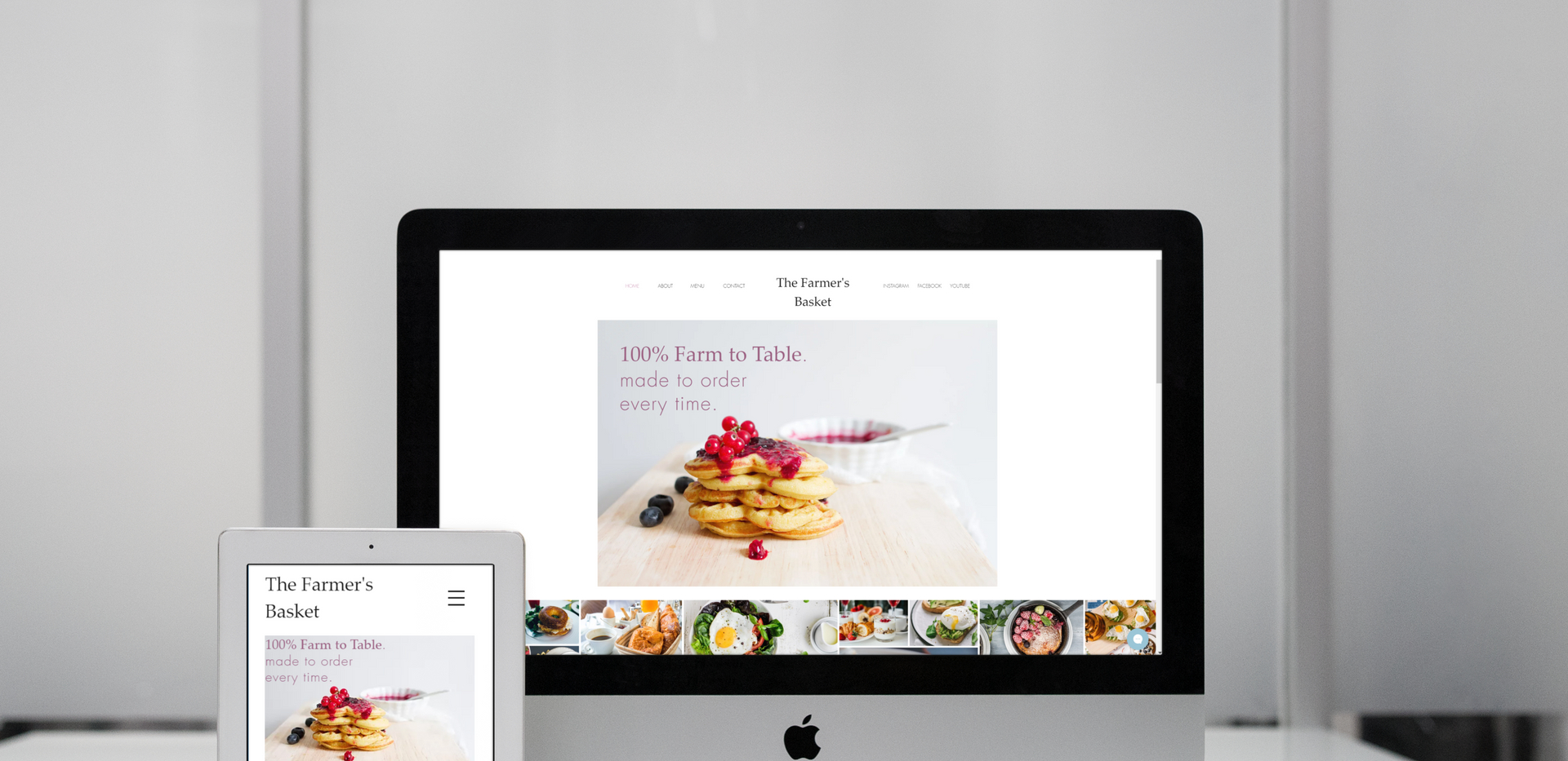 Breakfast Website Mockup