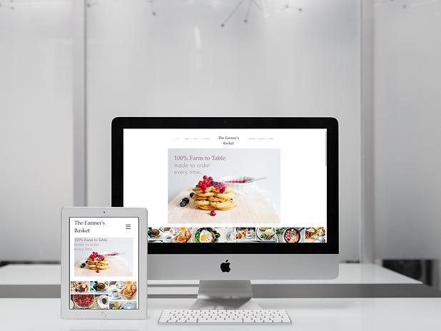Breakfast Website Mockup