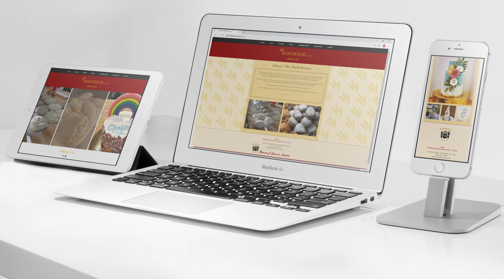 The Bakehouse Website Redesign