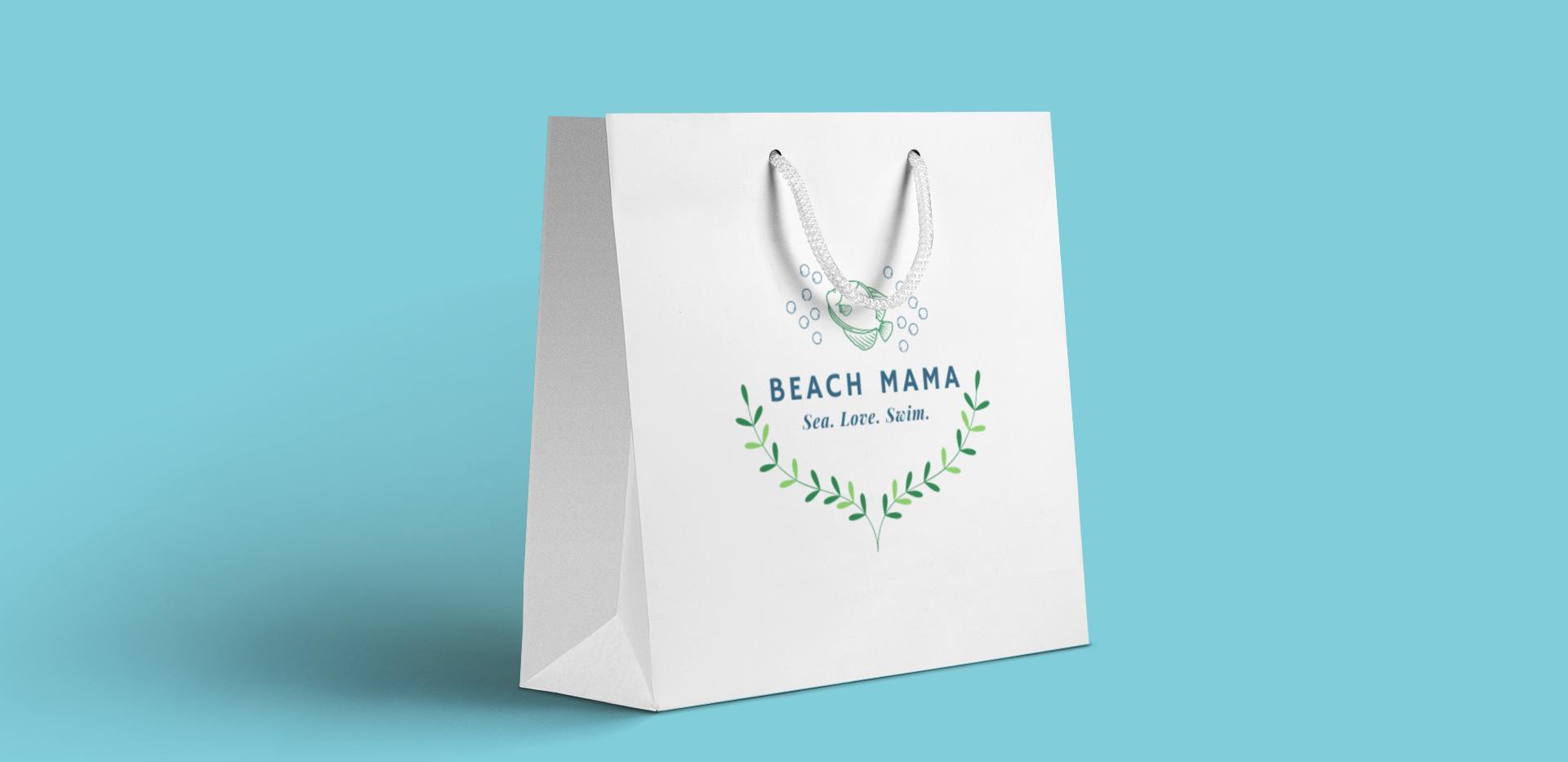 Beach Mama shopping bag
