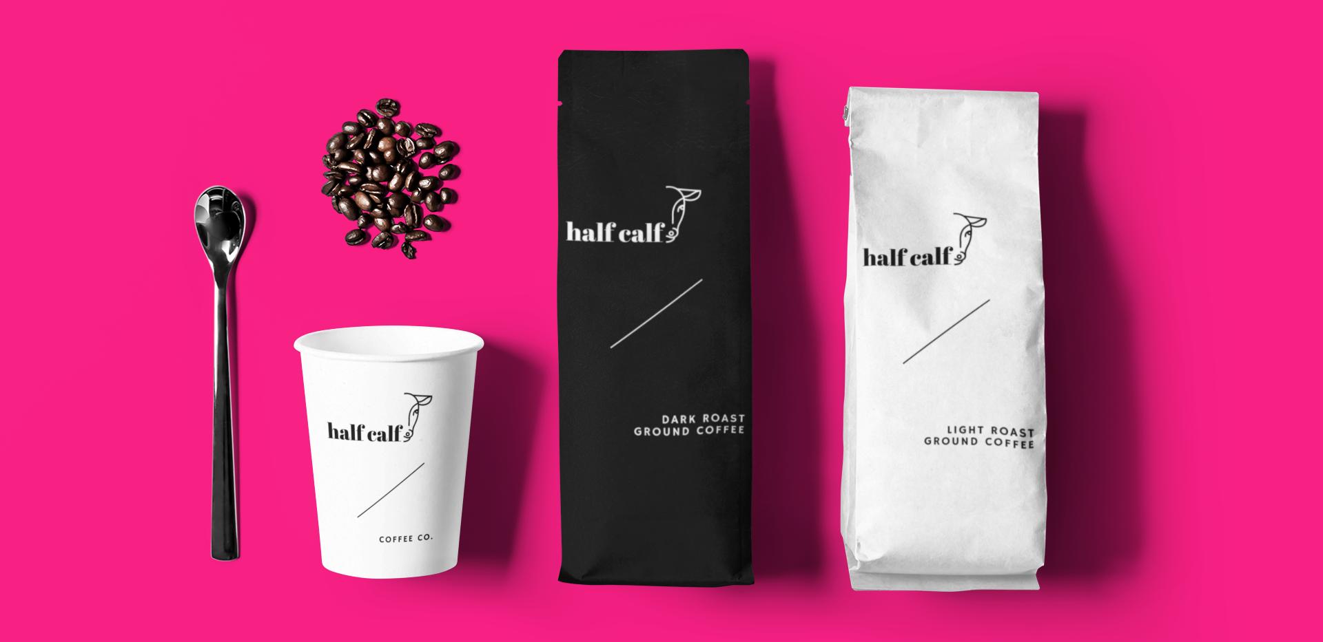 'Half Calf' Coffee Company Concept