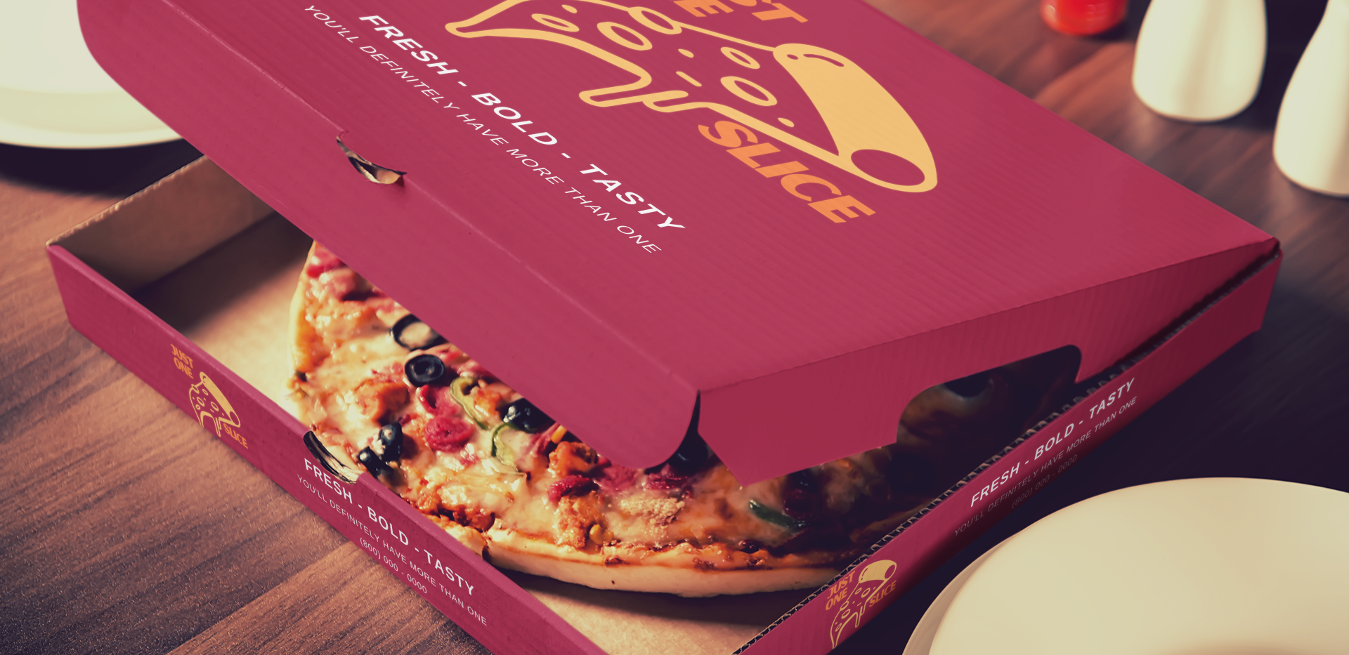 Just one Slice Pizza Box
