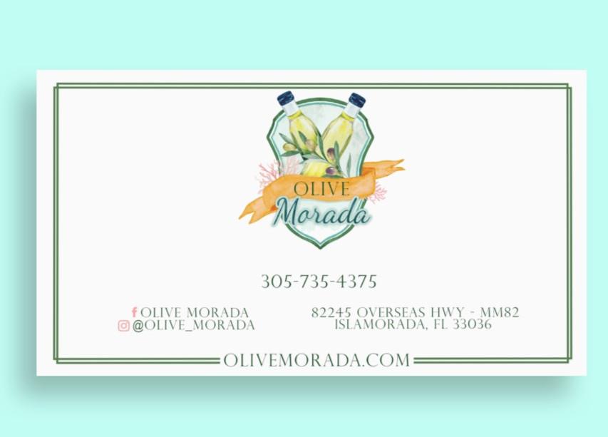 Olive Morada Buisness Card Mockup