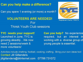 Thirsk Youth Club - Volunteer opportunity