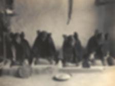Edward S Curtis Hopi Girls Grinding Piki