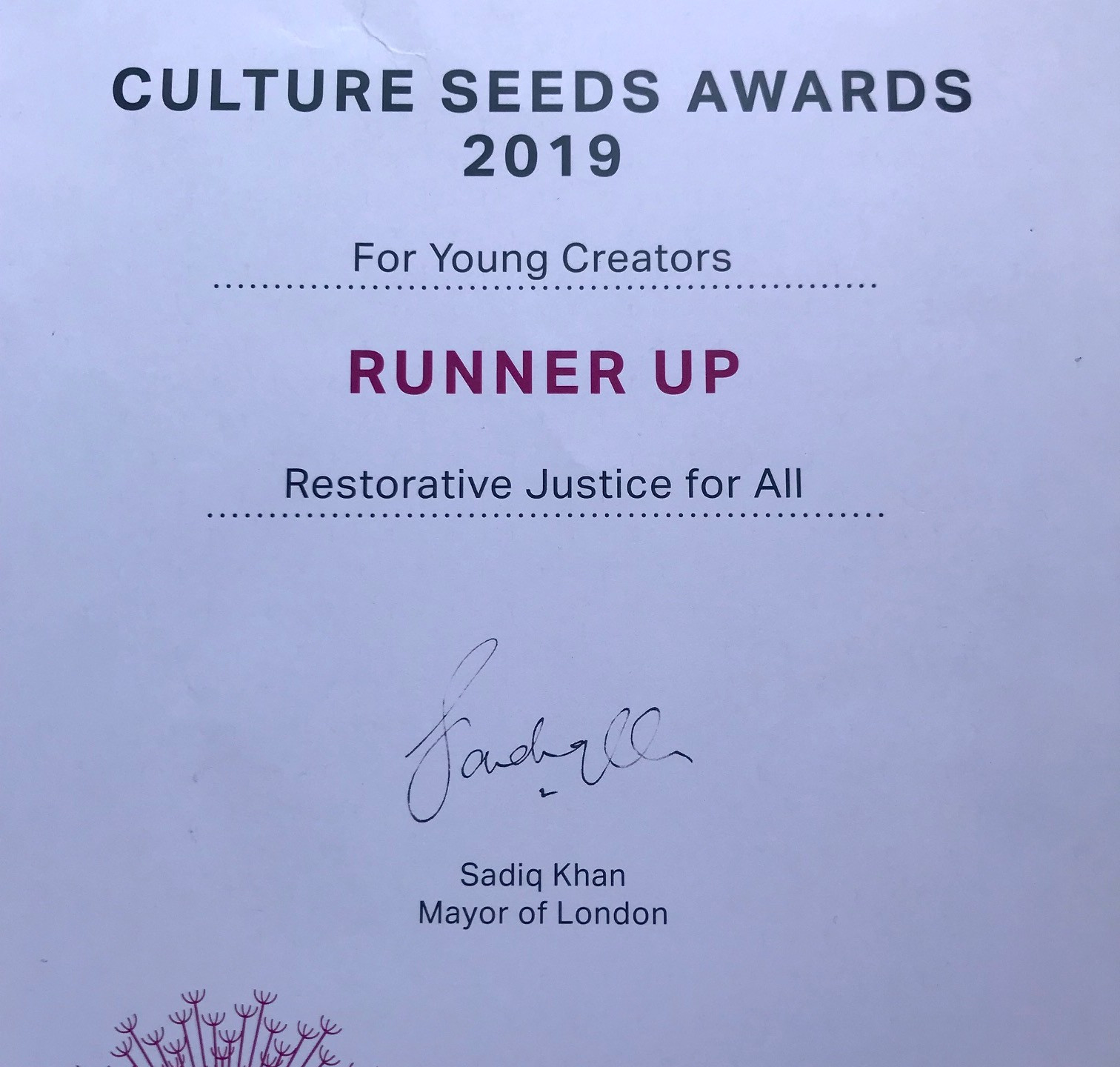 culture seeds RJ4All runner up