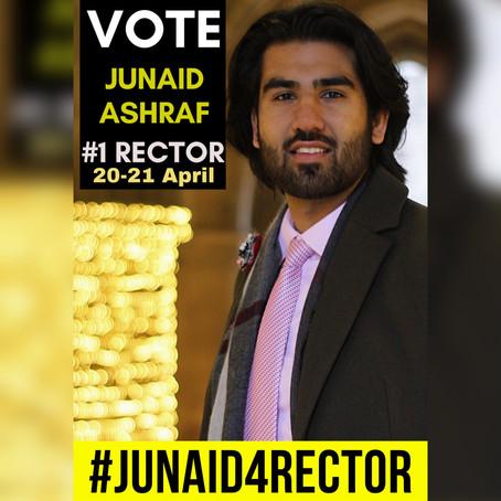 Rector Elections: QMU is proposing Junaid Ashraf!