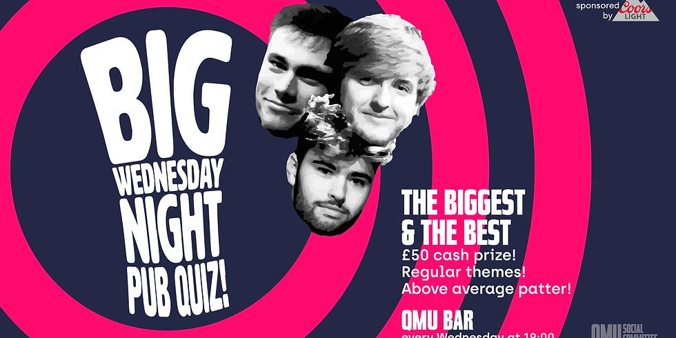 Big Wednesday Night Pub Quiz