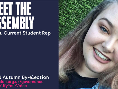 Meet the Assembly - Zara, Current Student Rep