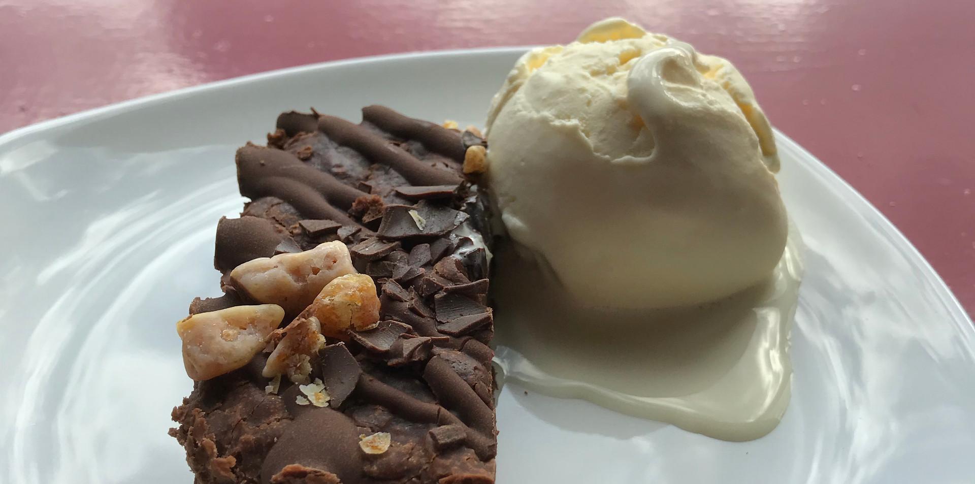 Gluten Free Cinder Toffee Brownie - £3.00