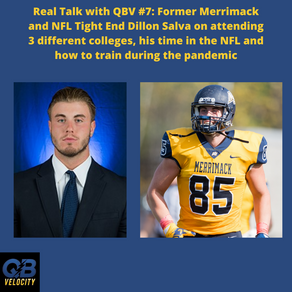 Real Talk with QBV#7 Former NFL Player and Power Lifter Dillon Salva