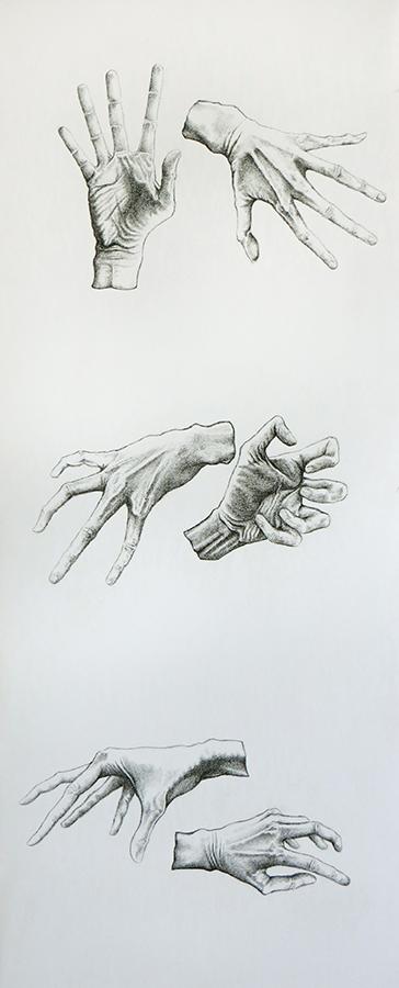 tre paia di mani