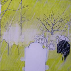 pioggia al funerale