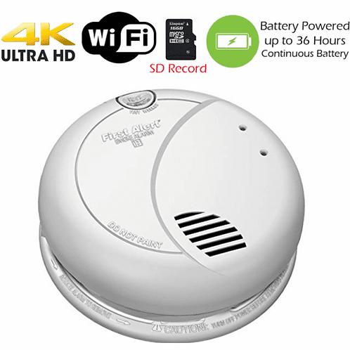 4K HD Battery Powered WiFi Smoke Detector KC 3590