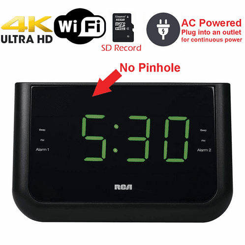 4K HD WiFi Alarm Clock Radio KC 3560