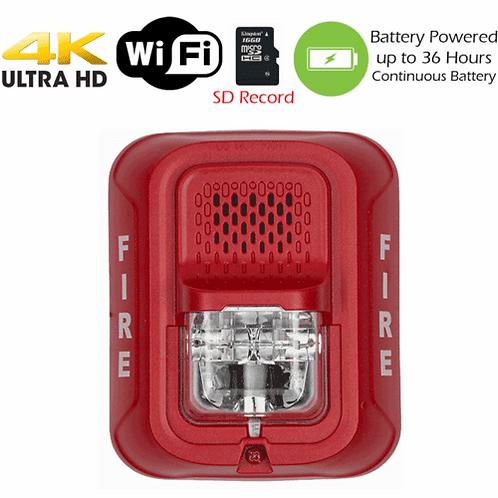 4K HD WiFi Battery Powered Fire Alarm Strobe KC 3570