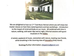Irish Trad Music Retreat August 2021