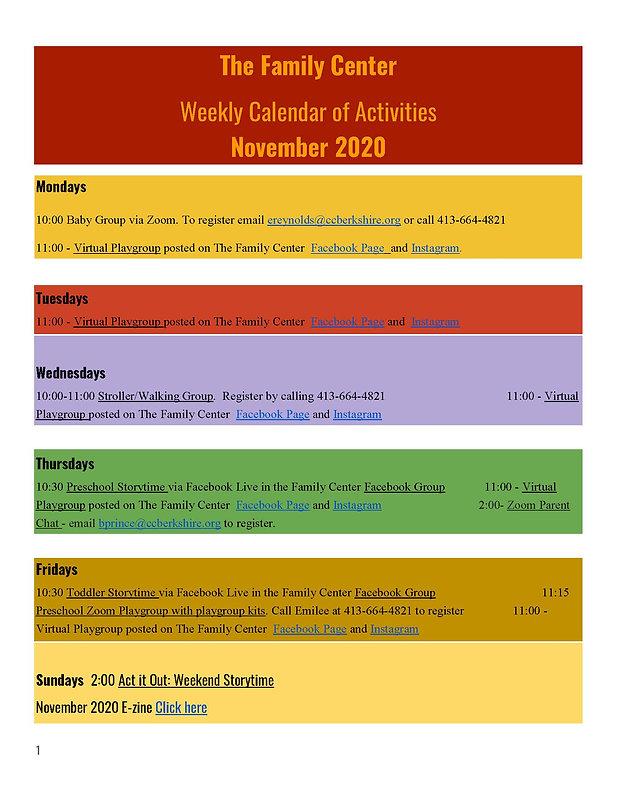Calendar of Activities November 2020_Pag