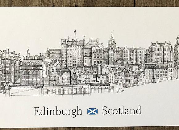 Old Town - Edinburgh Skyline (Postcard)