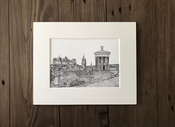 Edinburgh City from Calton Hill (Print)