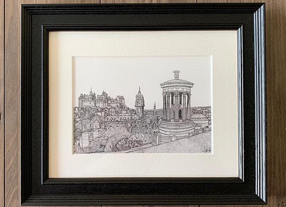 Edinburgh City from Calton Hill (Original Artwork)