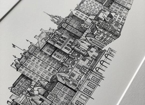 Old Town - Edinburgh Skyline (Print)