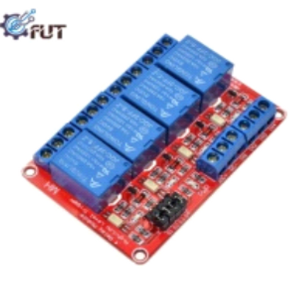 5V/12V/24V 4 Channel Relay Module Supportthe High and Low Level Trigger (Red boa