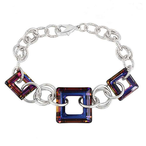 Coloured Swarovski crystal bracelet