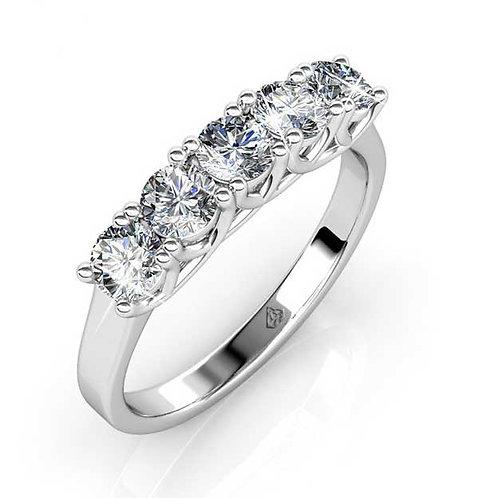 Size 8 - 18K White Gold plated dress style rinf