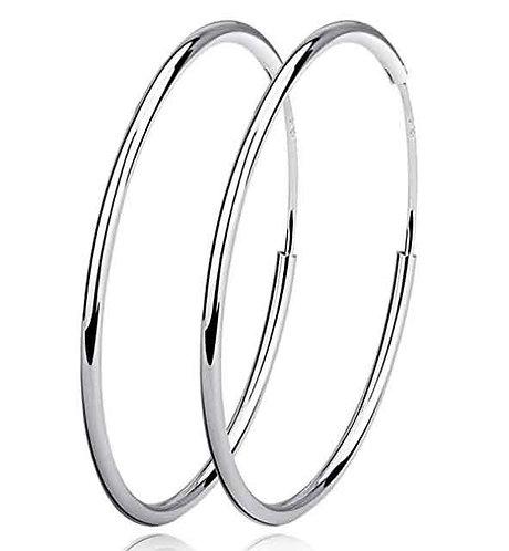 15 mm 925 Sterling Silver Fine Sleeper Earrings