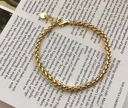 18K Gold plated bracelet chain over 925 Sterling Silver