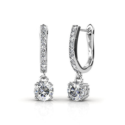 18K White Gold Earring with Swarovski crystals