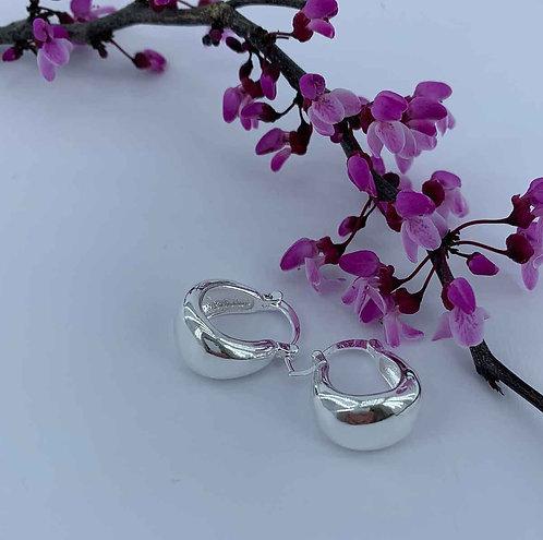 925 Sterling Silver Plated huggie earrings