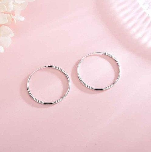 13 mm 925 Sterling Silver Fine Sleeper Earrings