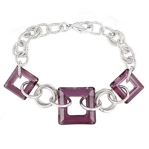Burgundy Swarovski crystal bracelet